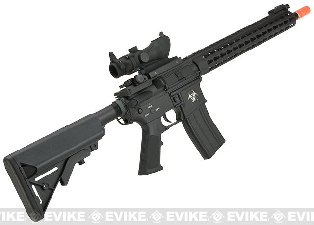 E&C Airsoft Keymod 13 Full Metal Defender M4 Airsoft AEG Rifle - Black