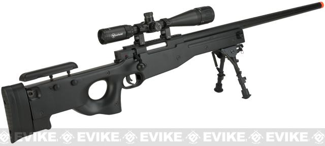 E&C Airsoft L96 Bolt Action Airsoft Sniper Rifle - Black / High Power