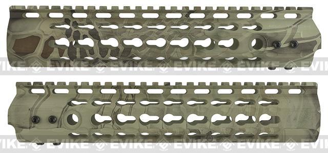 APS 10 Keymod RIS Free Float Handguard for M4 / M16 Series Airsoft AEG Rifles - Highlander