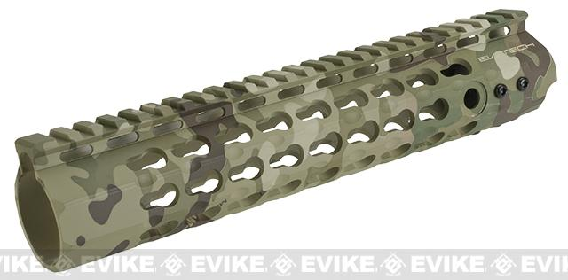 APS 10 Keymod RIS Free Float Handguard for M4 / M16 Series Airsoft AEG Rifles - Multicam