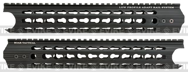 APS 12.5 Keymod RIS Low Profile Free Float Handguard for M4 / M16 Series Airsoft AEG Rifles - Black