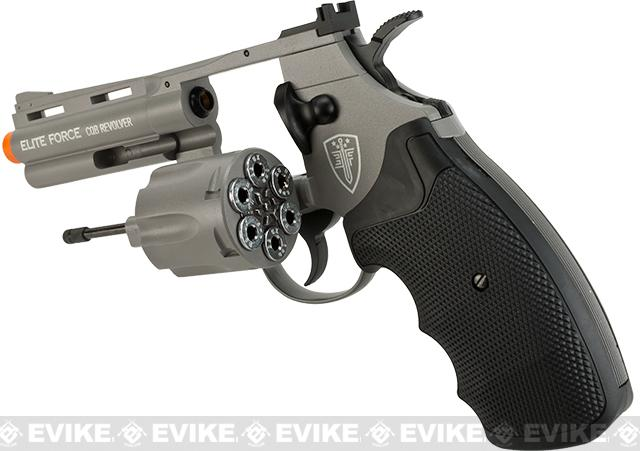 Elite Force 4 CO2 Powered 6mm Airsoft Revolver - Stealth Grey