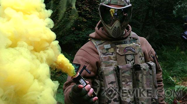Enola Gaye Airsoft Wire Pull Burst Smoke Grenade - Purple