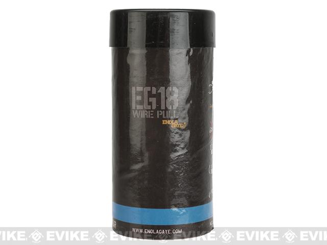 Enola Gaye EG18 High Output Airsoft Wire Pull Large Smoke Grenade - Blue