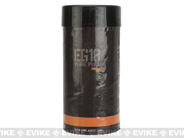 Enola Gaye EG18 High Output Airsoft Wire Pull Large Smoke Grenade - Orange