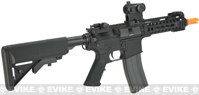 G&G CM16-300 Airsoft AEG M4 with Modular RIS - Black (Package: Add 9.6 Butterfly Battery + Smart Charger)