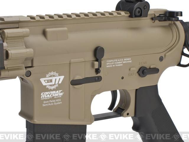 G&G CM18 MOD-1 Airsoft AEG Rifle - Tan (Package: Add 9.6 Butterfly Battery + Smart Charger)