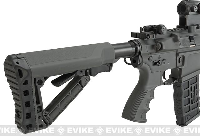 G&G GC16 Predator Full Metal Airsoft AEG Rifle with Keymod Rail - Battleship Grey (Package: Add 9.6 Butterfly Battery + Smart Charger)