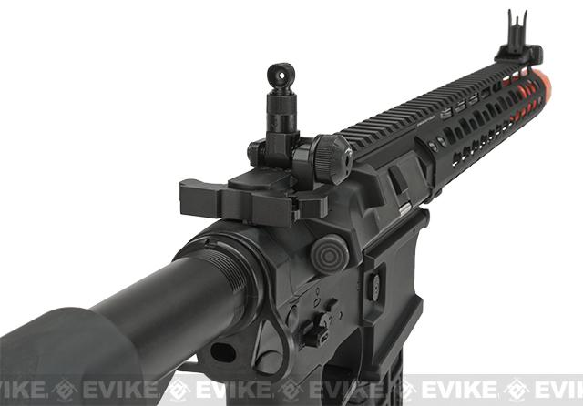 G&G GC16 Wild Hog Full Metal Airsoft AEG Rifle with 12 Keymod Rail - Black (Package: Add 9.6 Butterfly Battery + Smart Charger)