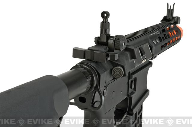 G&G CM16 Wild Hog Polymer Airsoft AEG Rifle with 7 Keymod Rail - Black (Package: Add 9.6 Butterfly Battery + Smart Charger)