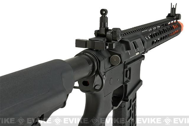 G&G GC16 Wild Hog Polymer Airsoft AEG Rifle with 12 Keymod Rail - Black (Package: Add 9.6 Butterfly Battery + Smart Charger)