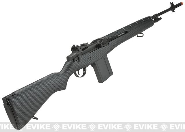 G&G M14 Full Size Airsoft AEG Rifle - Carbon (Package: Add 9.6 Butterfly Battery + Smart Charger)