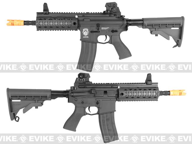 G&G GR4 100Y Airsoft Blowback AEG Rifle w/ Retractable Stock - Black (Package: Add 7.4v LiPo Battery + BMS Charger + LiPo Safe)