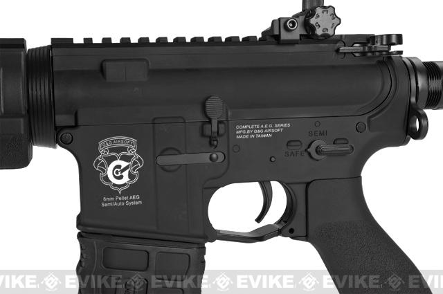 Pre-Order ETA March 2017 G&G Blowback GR4 G26 Airsoft AEG Rifle with Built-in Laser and LED Tac Light - Black (Package: Add 9.6 Butterfly Battery + Smart Charger)