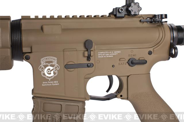 G&G Blowback GR4 G26 Airsoft AEG Rifle with Built-in Laser and LED Tac Light - Tan (Package: Gun Only)