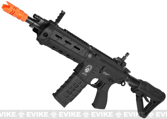G&G Blowback GR4 G26 Airsoft AEG Rifle with Built-in Laser and LED Tac Light - Black