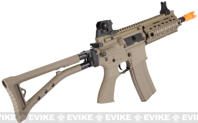 G&G GR4 100Y Airsoft Blowback AEG Rifle w/ Folding Stock - Desert Tan (Package: Gun Only)