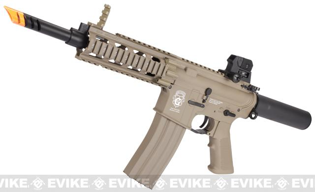 G&G GR16 CQW WASP Airsoft Blowback AEG Rifle - Desert Tan (Package: Add 7.4v LiPo Battery + BMS Charger + LiPo Safe)