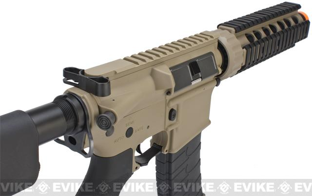 G&G CQB-S MINI Airsoft Electric Blowback AEG Rifle - Tan (Package: Gun Only)