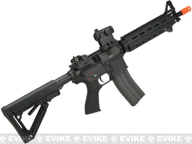 z G&G HB16 Mod-0 Heavy Bolt Full Metal Airsoft AEG Rifle Combo - Black (Package: Add 9.6 Butterfly Battery + Smart Charger)