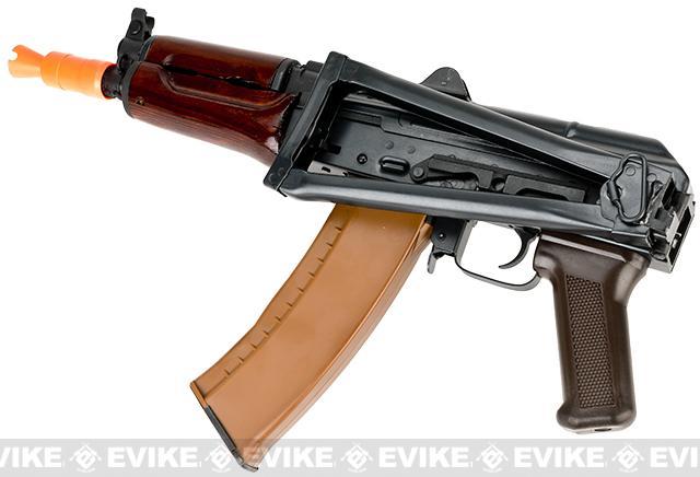 E&L Airsoft AK-74U A104 Gen. 2 Full Metal AEG Rifle w/ Real Wood Handguard & Steel Folding Stock