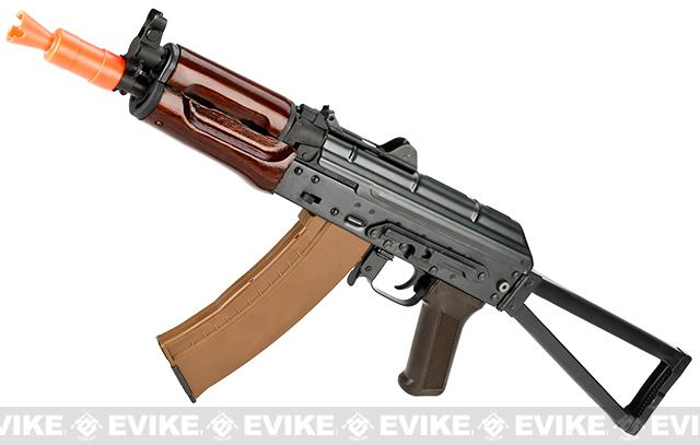 E&L Airsoft AK-74U A104 Gen. 2 Full Metal AEG Rifle w/ Real Wood Handguard & Steel Folding Stock