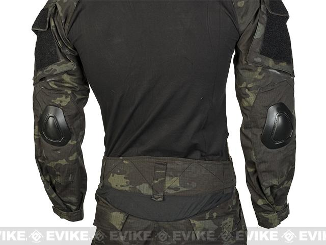 Emerson Combat Uniform Set - Multicam Black (Size: Small)