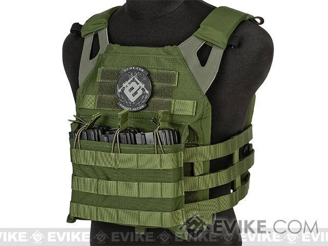 Avengers Compact Operator Airsoft High Speed JPC Plate Carrier - OD Green