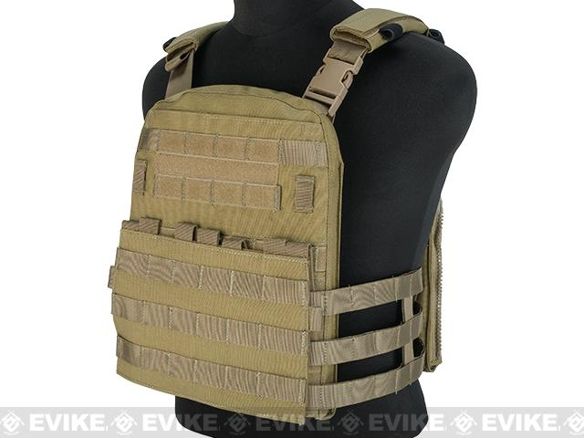 Emerson Lightweight Cage Plate Carrier- Khaki