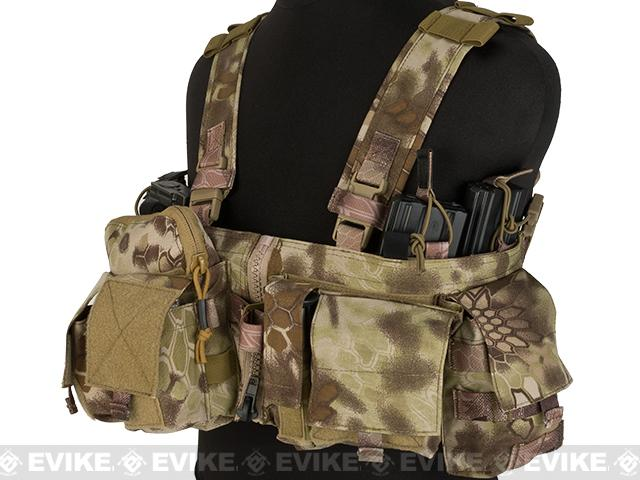 Emerson Split Front Chest Rig w/ Pouches  - Desert Serpent