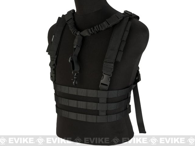 Avengers Tactical Low Profile MOLLE Chest Rig System - Black