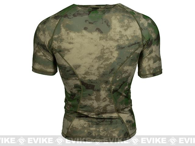 Emerson Skin-tight Base Layer Camo Outdoor Sports Running Shirt - Arid Foliage (Size: Large)