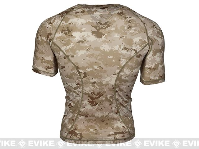Emerson Skin-tight Base Layer Camo Outdoor Sports Running Shirt - AOR1 (Size: X-Large)