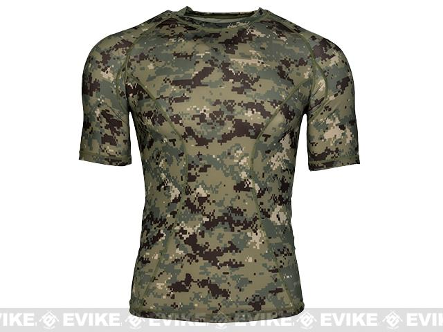 Emerson Skin-tight Base Layer Camo Outdoor Sports Running Shirt - AOR2 (Size: Medium)