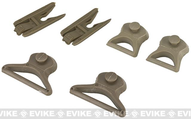 Emerson Goggle Swivel Clips for Bump Helmet - Tan