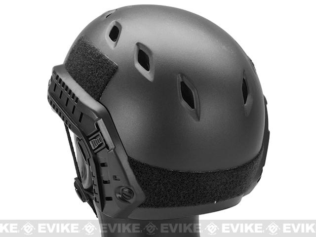 Emerson Bump Type Tactical Airsoft Helmet w/ Flip-down Visor (BJ Type / Basic / Black)
