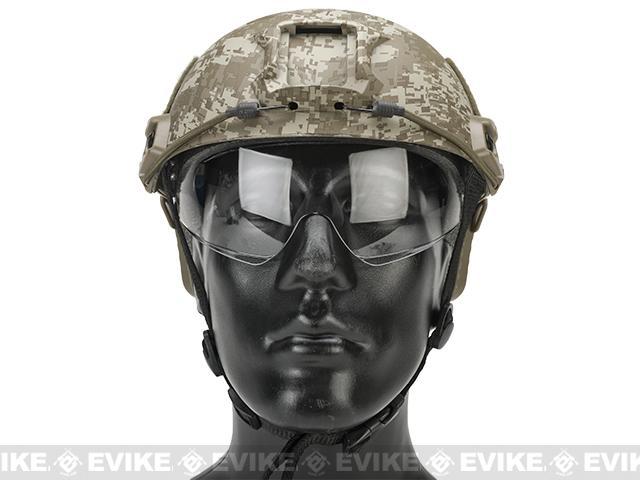 Emerson Bump Type Tactical Airsoft Helmet w/ Flip-down Visor (BJ Type / Basic / Digi Desert)