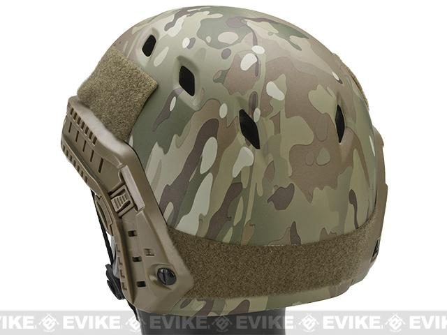 Emerson Bump Type Tactical Airsoft Helmet w/ Flip-down Visor (BJ Type / Basic / Camo)