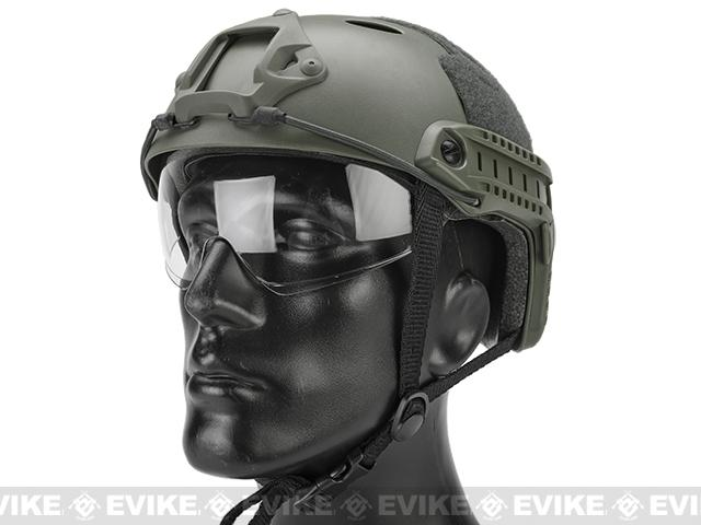 Emerson / Lancer Bump Helmet w/ Flip-down Retractable Visor (PJ Type / Foliage Green)