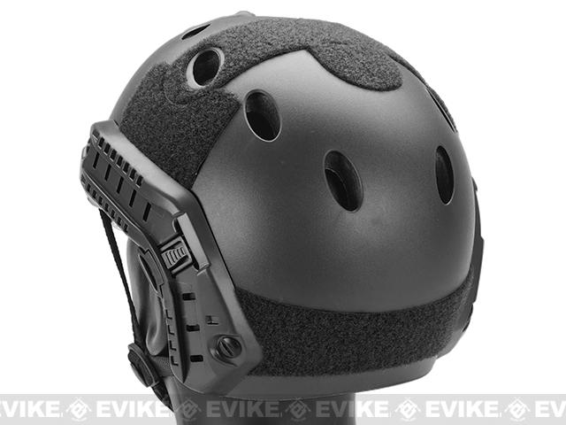 Emerson / Lancer Bump Helmet w/ Flip-down Retractable Visor (PJ Type / Black)