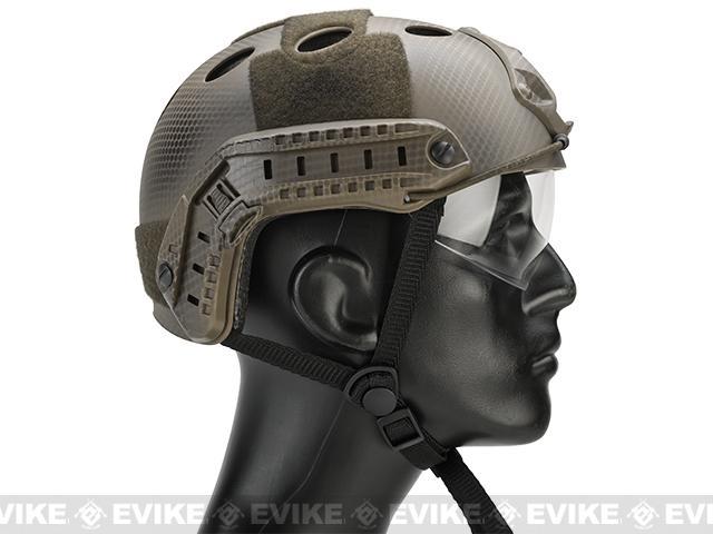 Emerson / Lancer Bump Helmet w/ Flip-down Retractable Visor (PJ Type / Navy Seal)
