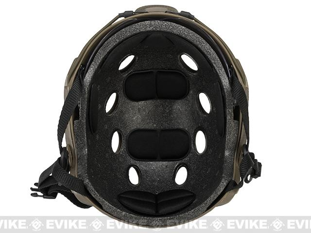 Emerson Bump Type Tactical Airsoft Helmet w/ Flip-down Visor (BJ Type / Basic / Foliage Green)