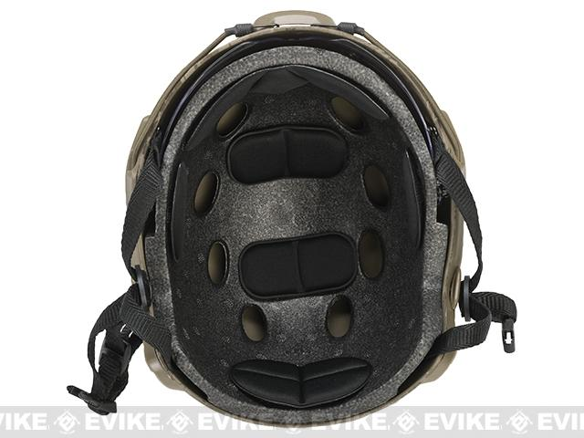 Emerson Bump Type Tactical Airsoft Helmet w/ Flip-down Visor (MICH Ballistic Type / Basic / Arid Camo)