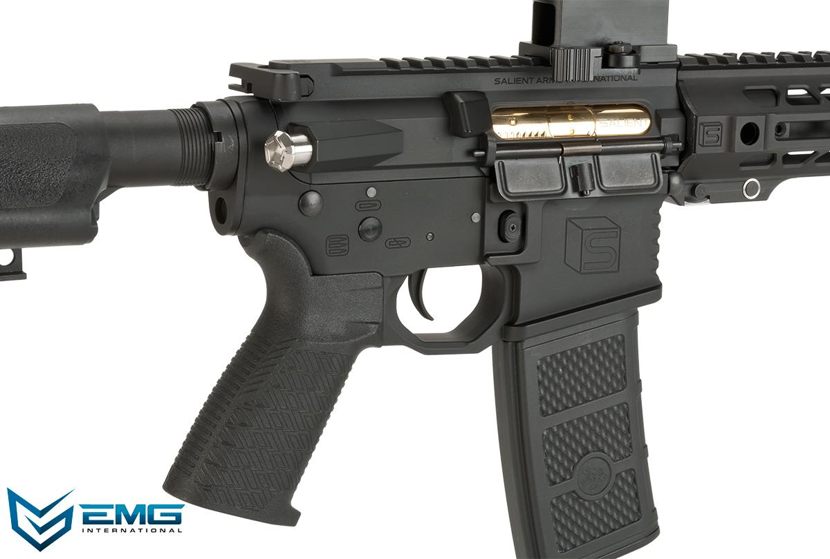 EMG SAI Licensed AR-15 SBR GRY M4 Airsoft AEG Training Rifle with JailBrake Muzzle Device and Red Dot