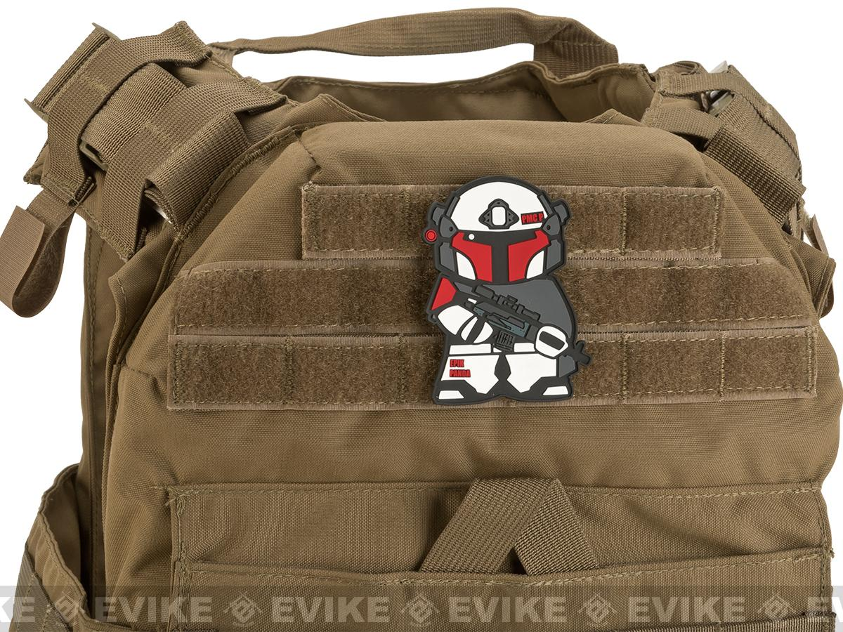 Epik Panda Shock Trooper Panda PVC Rubber Hook and Loop Morale Patch