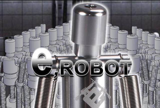 z Evike.com Licensed CNC Aluminum Gambaruman eRobot Airsoft Desktop Target