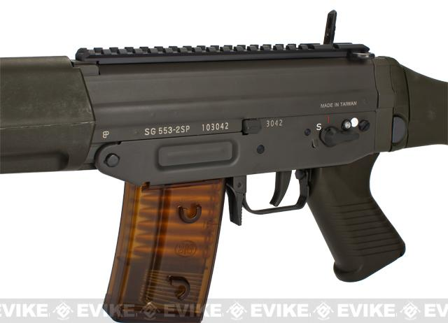 G&G Swiss Arms Sig Sauer Licensed SG553 Full Metal Airsoft AEG Rifle - (Package: Gun Only)
