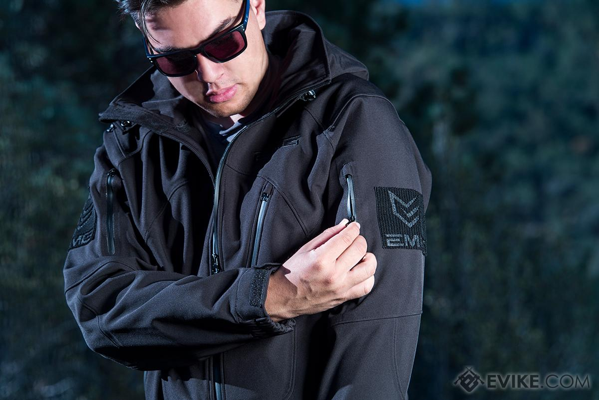 Pre-Order ETA October 2016 EMG Reaper Softshell Jacket - Black (Size: Large)