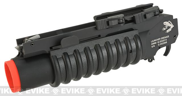 G&P Skull Frog  M203 Grenade Launcher with QD Levers - Extra Short Type/Black