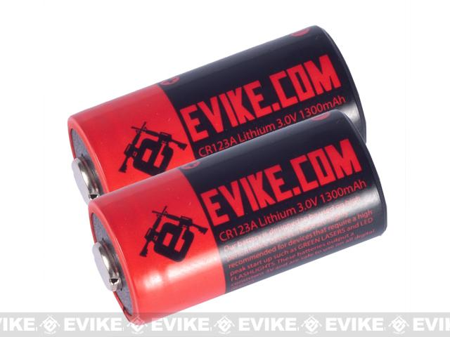 Evike.com High Performance CR123A 3V Lithium Battery - Pack of 2